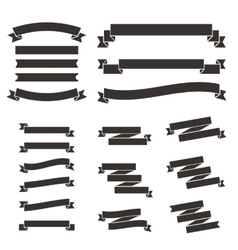 Set of flat vintage ribbons vector image