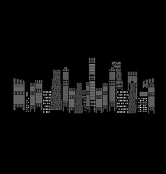 silhouette city background vector image