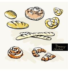 Sketch of bakery vector image vector image