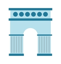 spain monument isolated icon design vector image