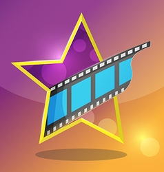 Star movie film entertainment icon vector
