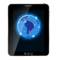 Universal design Tablet with connection concept vector image
