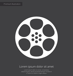 Video film premium icon white on dark background vector