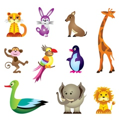Wild animals toys vector image vector image