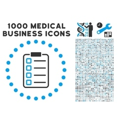 Examination icon with 1000 medical business vector