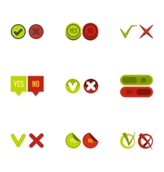 Click and selection icons set flat style vector