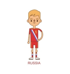 National russia soccer football player vector