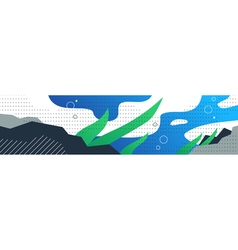 Aquatic concept underwater sea background with vector