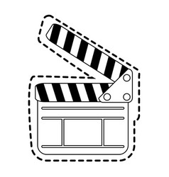 Clapperboard cinema icon image vector