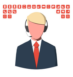 customer service operator vector image