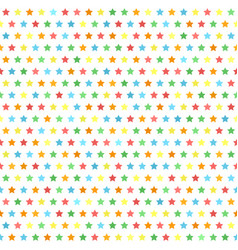 star pattern multicolor seamless background vector image