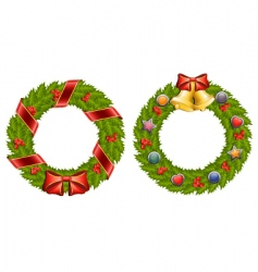 Holly wreath vector