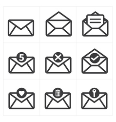 Set of icon for mail vector
