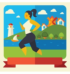 Outdoor fitness vector