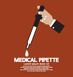 Medical pipette in hand vector