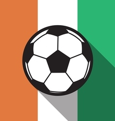Football icon with ivory coast flag vector
