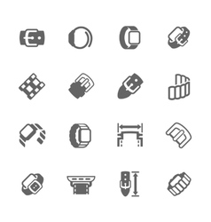 Simple watch band icons vector