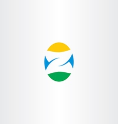 Letter z egg logo icon vector