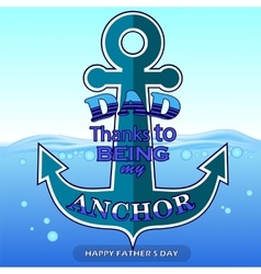 Best dad poster on blue water background vector