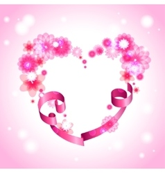 Heart shape background vector
