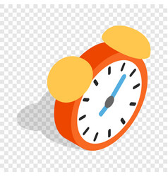 alarm clock isometric icon vector image