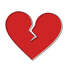broken heart cartoon icon image vector image vector image