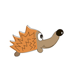 childish of hedgehog vector image