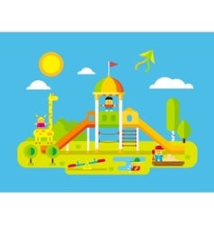 Childrens playground vector