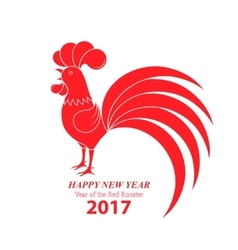 Chinese new year 2017 year of the rooster vector