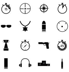 Clay shooting icon set vector