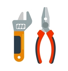 Decorating home renovation tools pliers and wrench vector image vector image