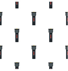 Electric flashlight pattern flat vector