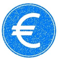 Euro coin grainy texture icon vector
