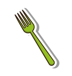 Fork cutlery tool isolated icon vector