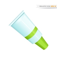 green paint tube icon vector image