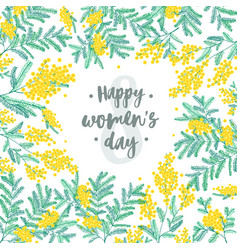 Happy women s day festive wish against figure vector