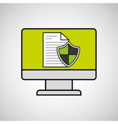 internet security document computer protection vector image