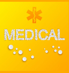 light medicine template vector image vector image