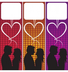 love speech bubble vector image vector image