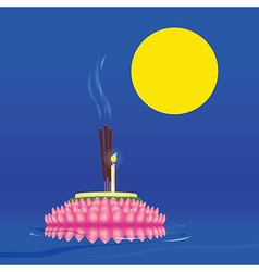 Loy Kratong Festival in Thailand vector image