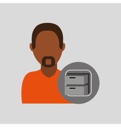 man file cabinet icon design graphic vector image