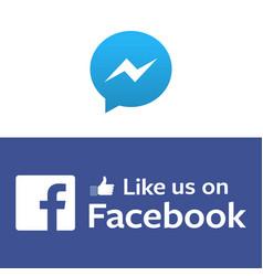 Messenger and facebook background image vector