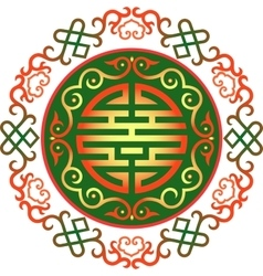Oriental chinese ornament asian vector