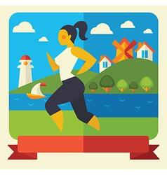 Outdoor fitness vector