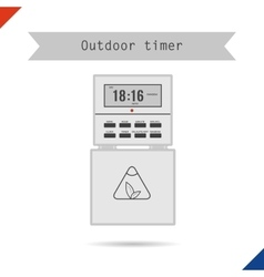 Outdoor timer for phyto light vector image vector image