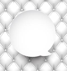 Paper white round speech bubble vector image