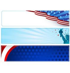 Patriotic banners vector image vector image