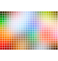Rainbow colors square mosaic background over white vector