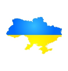Silhouette of Ukraine vector image vector image