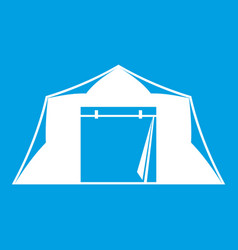 Tent icon white vector